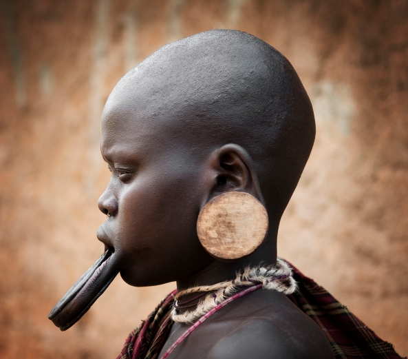 This is Nataere a young women from the Mursi tribe.